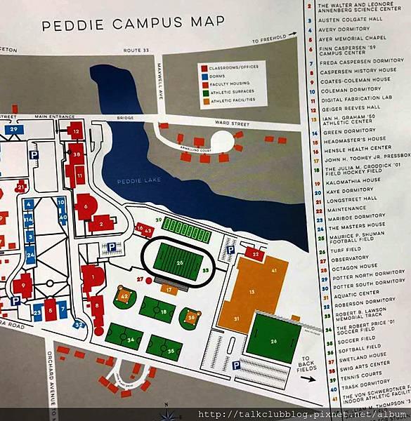 Peddie校園地圖