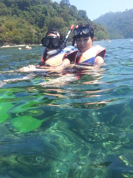 水中的海底生態真的很豐富