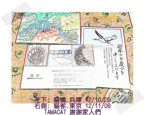 左下:上週10/29收到貓媽從兵庫寄來 右: 這週11/8收到貓爹從東京寄來