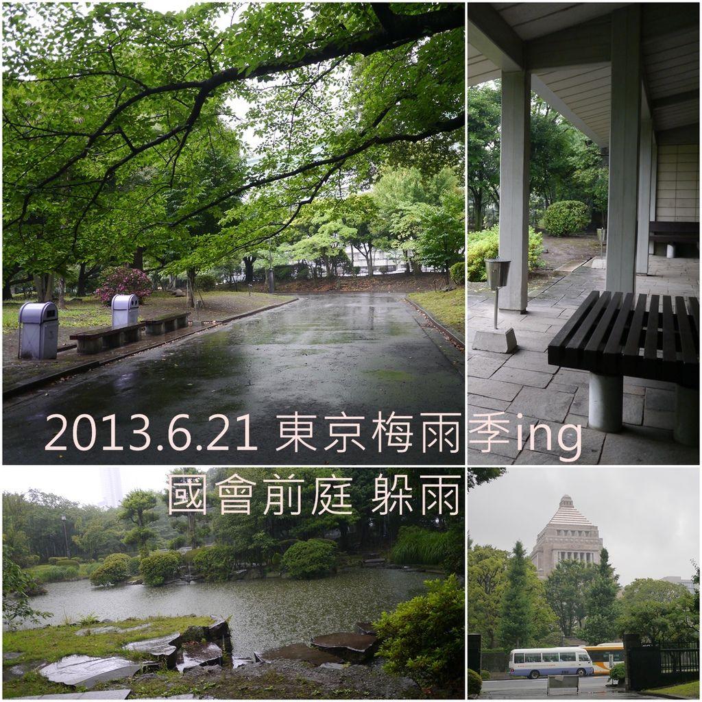 2013/6/21雨天時的國會廳前公園