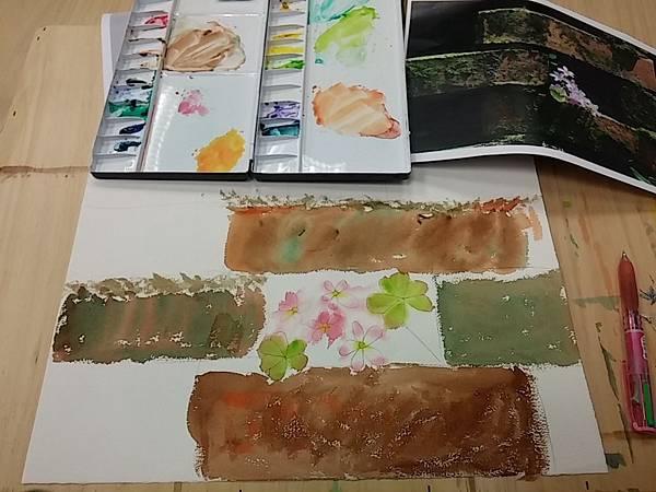 [水彩課二-3] 粉嫩的酢漿草
