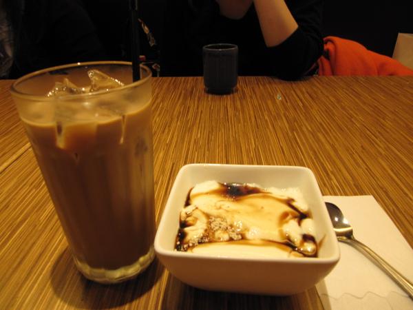 我的附餐~冰咖啡加日式豆奶布丁