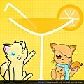 右貓為楓辰,背景及左貓為柳心