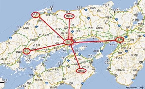 岡山地理位置