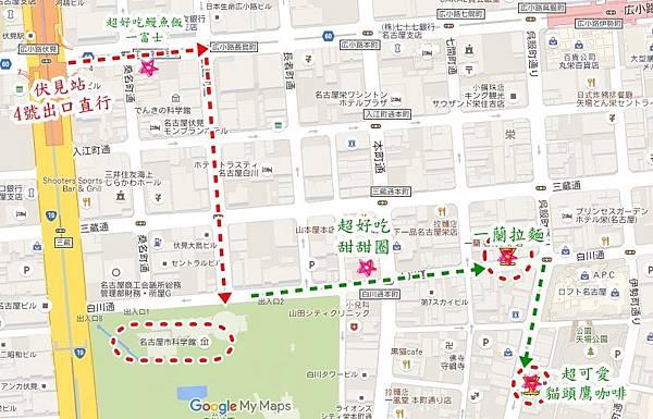 名古屋科學館地圖