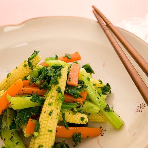西洋菜炒玉米