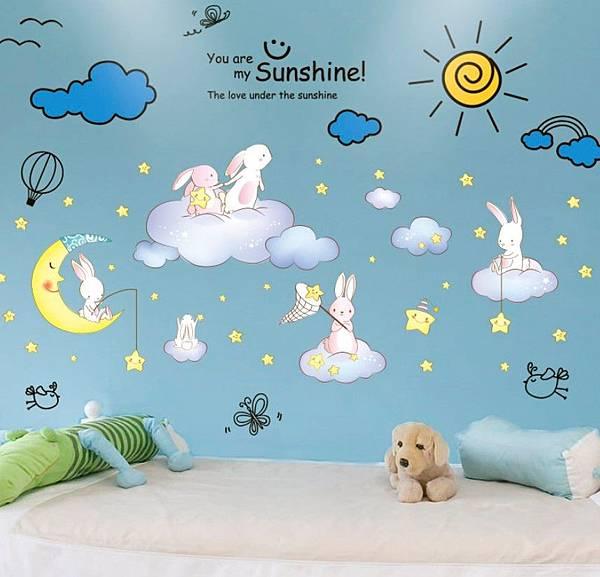 兒童臥房-星星月亮卡通創意牆貼紙