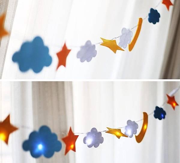 LED燈串帳篷燈飾星星臥室裝飾派對彩燈夜燈