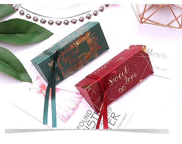 歐式個性三角婚禮糖果紙盒