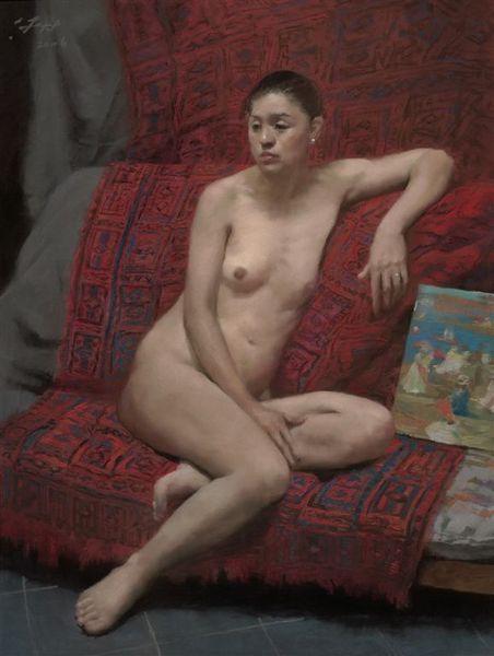 作品《紅毯上的裸女》.jpg