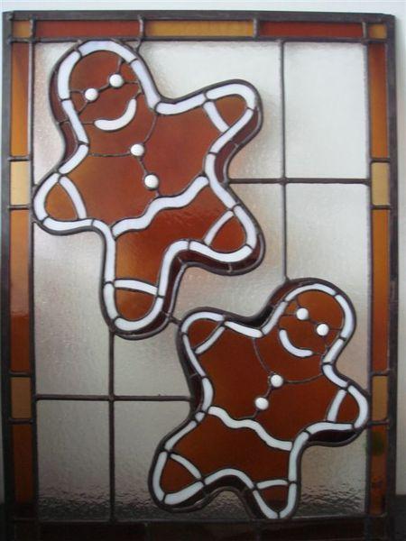 可愛的玻璃鑲嵌薑餅屋.JPG