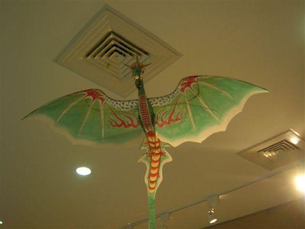 二樓迴廊的展示--這是翼首龍.JPG