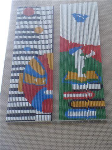 文化局正門口右側牆面近照(含一二季圖).JPG