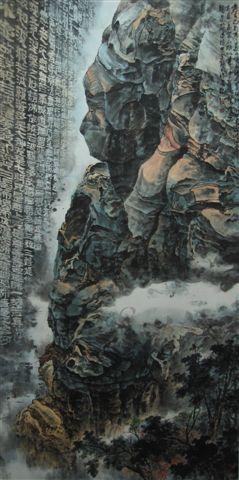 《台灣真情余振明畫展》-佛首奇岩.jpg