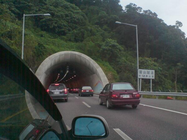 塞車的雪隧