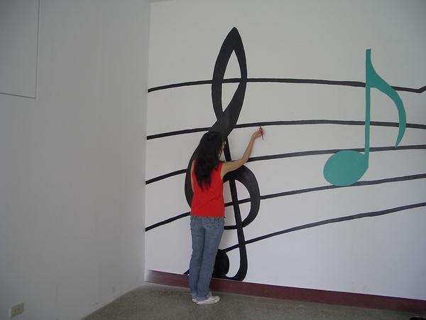 070921音教系的同伴努力於高音譜記號