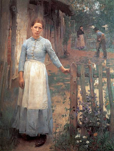 George Clausen (1852-1944) Sir George Clausen (1852-1944)_The_Girl_at_the_Gate.jpg