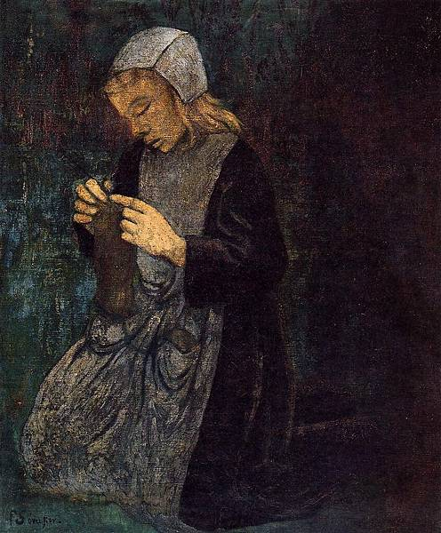Paul Serusier (1864-1927) Young Breton (also known as The Little Knitter).jpg