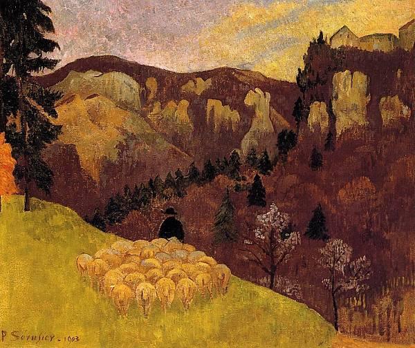 Paul Serusier (1864-1927) The Flock in the Black Forest.jpg