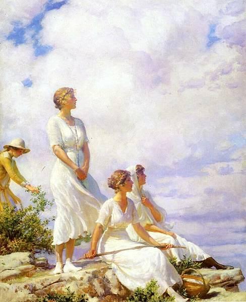 Charles Courtney Curran (1861-1942)-Summer Clouds.jpg