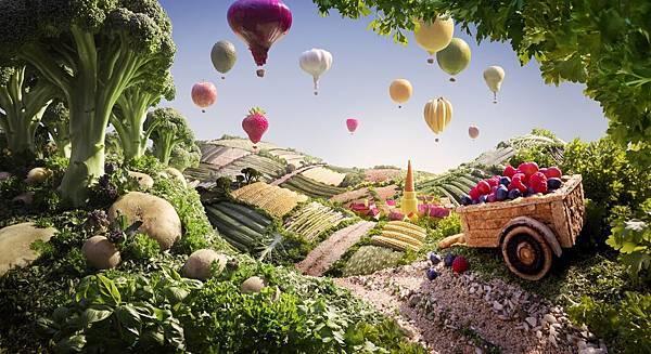 Cart & Balloons Small