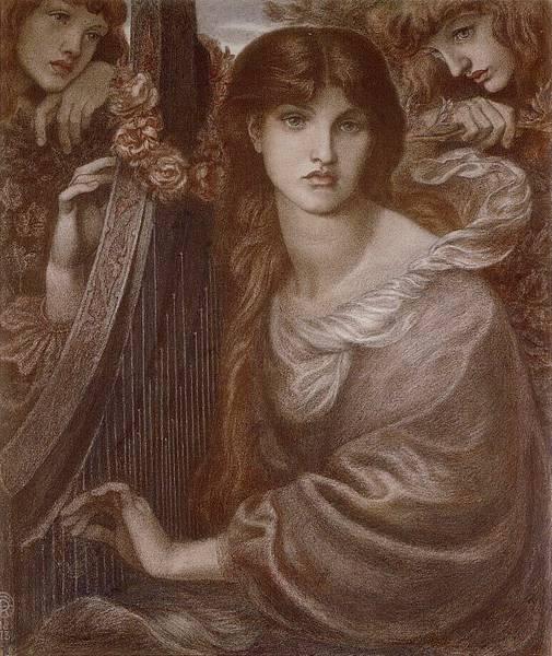 Dante Gabriel Rossetti (1828-1882)-La Ghirlandata