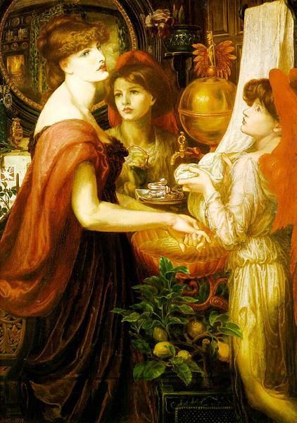 Dante Gabriel Rossetti (1828-1882)-La_Bella_Mano