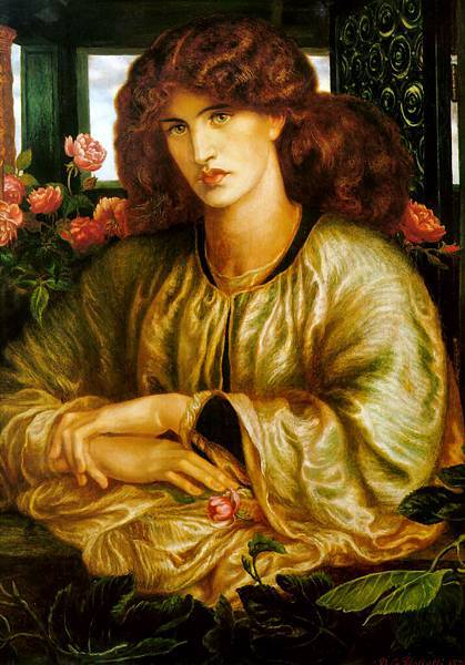 Dante Gabriel Rossetti (1828-1882)-La_Donna_della_Finestra