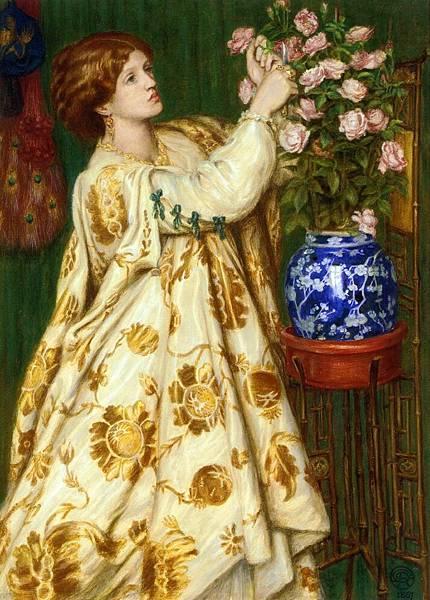 Dante Gabriel Rossetti (1828-1882)-Monna Rosa