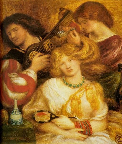 Dante Gabriel Rossetti (1828-1882)-Morning_Music