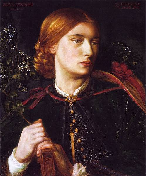 Dante Gabriel Rossetti (1828-1882)-Portrait of Maria Leathart