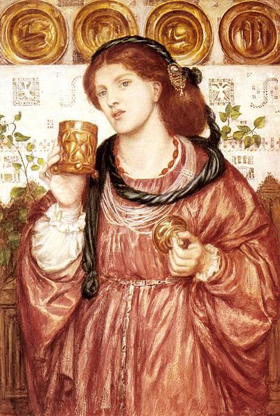 Dante Gabriel Rossetti (1828-1882)-Rossetti_Dante_Gabriel_The_Loving_Cup
