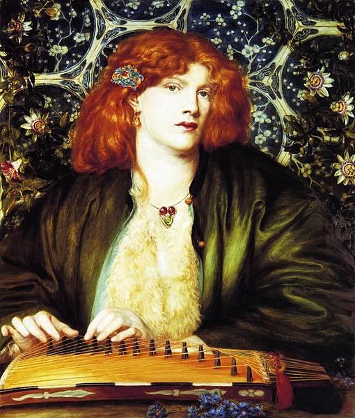 Dante Gabriel Rossetti (1828-1882)-The Blue Bower