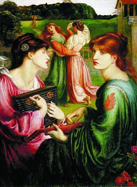 Dante Gabriel Rossetti (1828-1882)-The_Bower_Meadow