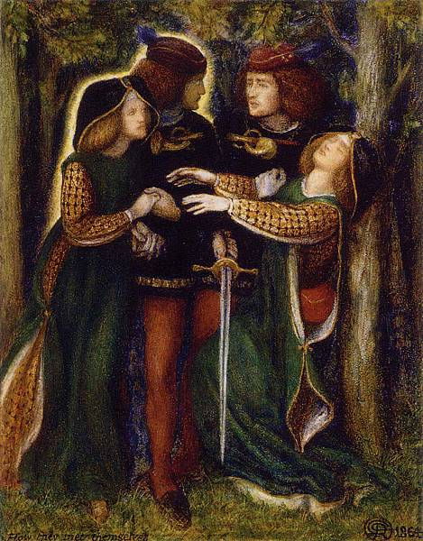 Dante Gabriel Rossetti (1828-1882)-How They Met Themselves