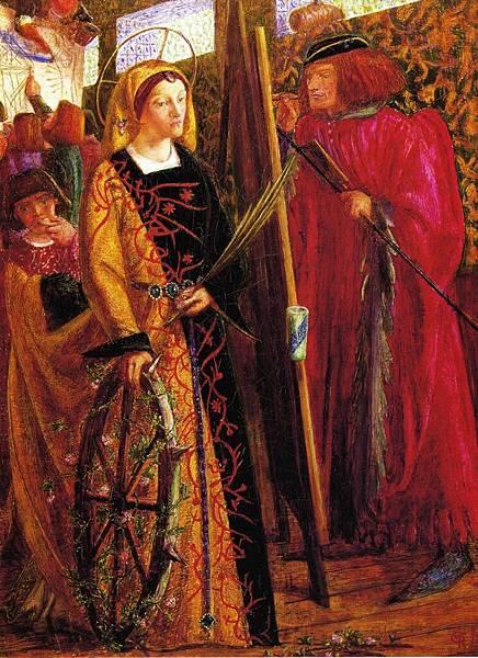 Dante Gabriel Rossetti (1828-1882)-Saint Catherine