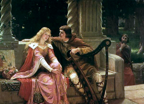 Edmund Blair Leighton (1853-1922)-Leighton-Tristan_and_Isolde-1902