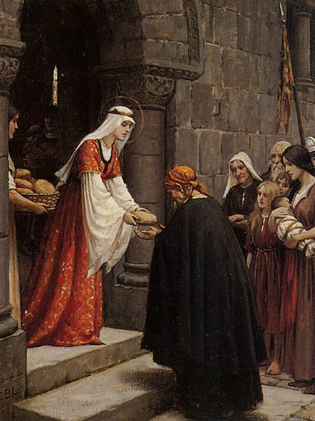 Leighton_Edmund_Blair_The_Charity_of_Saint_Elizabeth_Of_Hungary_Oil_on_Panel-huge