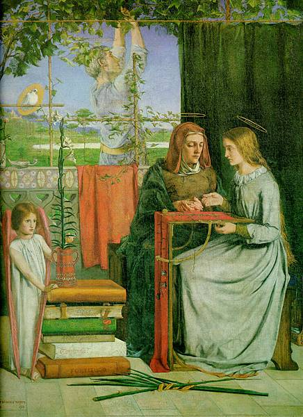 Dante Gabriel Rossetti (1828-1882)-The_Childhood_of_the_Virgin