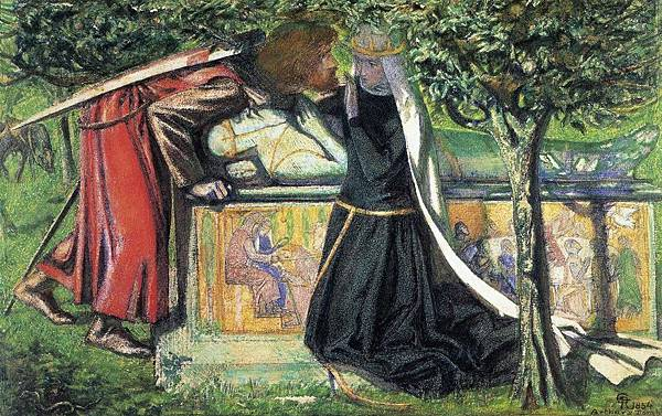 Dante Gabriel Rossetti (1828-1882)-The_Lady_of_Shallot_Looking_at_Lancelot