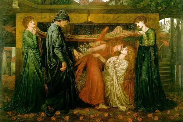 Dante Gabriel Rossetti (1828-1882)-Dantes_Dream_at_the_Time_of_the_Death_of_Beatrice