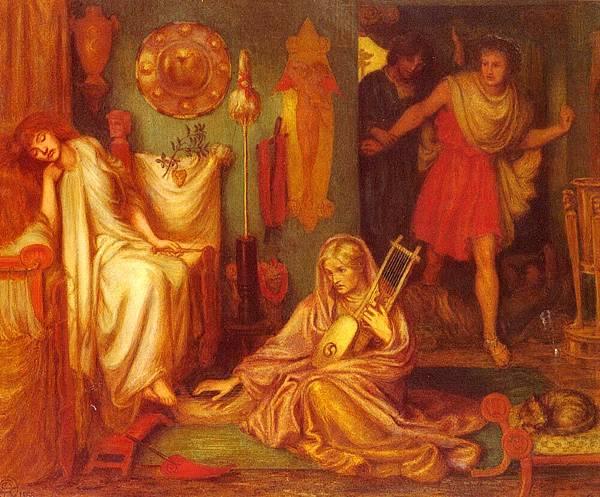 Dante Gabriel Rossetti (1828-1882)-Rossetti_Dante_Gabriel_The_Return_Of_Tibullus_To_Delia