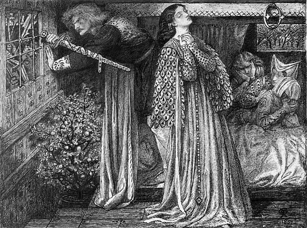 Dante Gabriel Rossetti (1828-1882)-Rossetti_Sir_Launcelot_in_the_Queen-s_Chamber