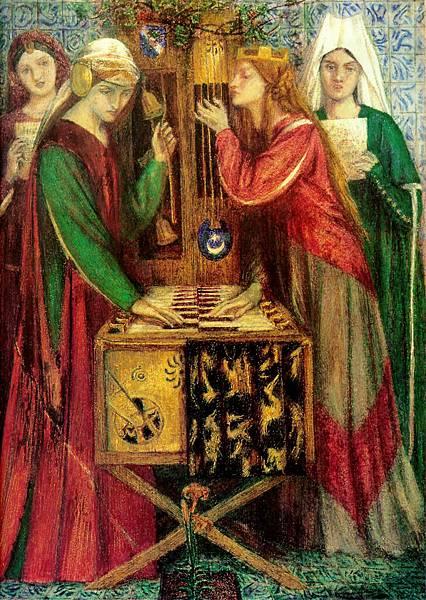 Dante Gabriel Rossetti (1828-1882)-The_Blue_Closet