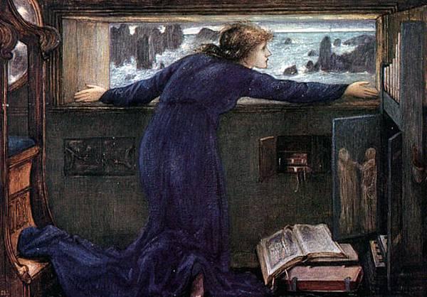 Dorigen of Britain Waiting for the Return of Her Husband - (Sir Edward Burne-Jones - 1871)