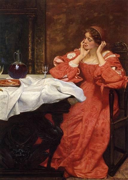 Edward Robert Hughes (1851-1917)-The Shrew Katherina