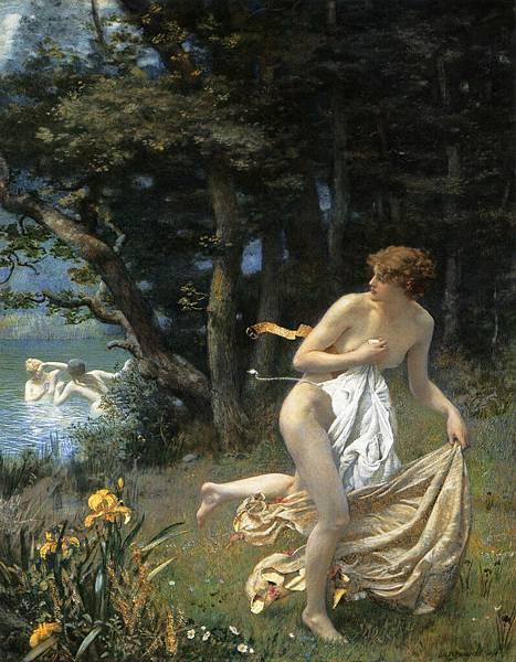 Edward Robert Hughes Diana's maidens