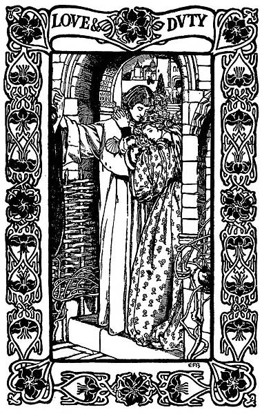 04. Brickdale, Eleanor Fortescue - Love And Duty, from Poems by Alfred Lord Tennyson