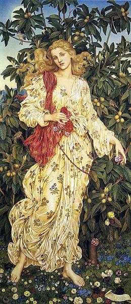 Evelyn De Morgan - Flora - 1894 - Victorian Painting pg 314