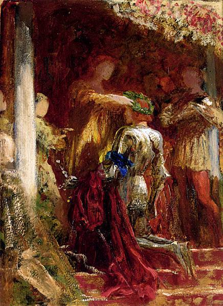 Frank Dicksee (1853-1928)-Dicksee_Sir_Francis_Bernard_Victory_A_Knight_Being_Crowned_With_A_Laurel_Wreath